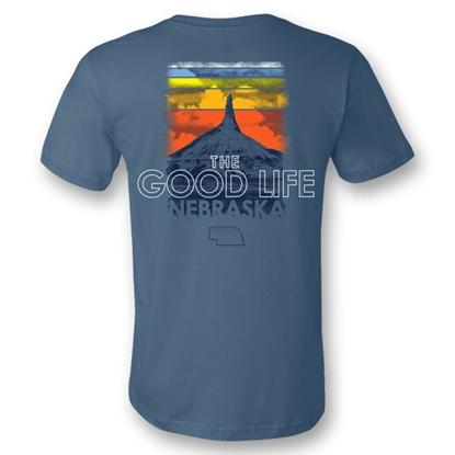 Picture of Nebraska Good Life Sunset T-Shirt