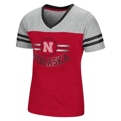 Picture of Nebraska Colosseum® Toddler Girls Pee Wee Football Tee