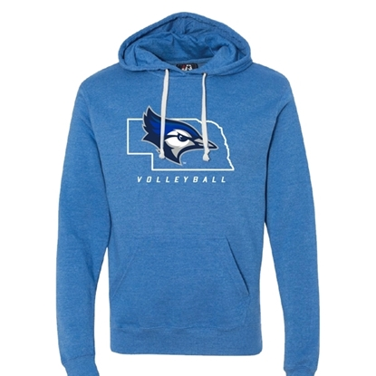 Picture of Creighton Volleyball Tri-Blend Hooded Sweatshirt (CU-181)