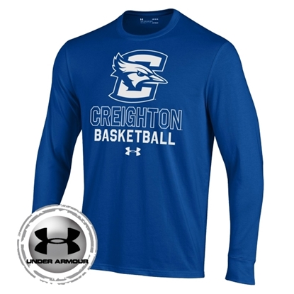 Picture of Creighton Under Armour® Youth Basketball Performance Cotton Long Sleeve Shirt