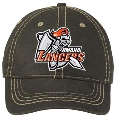 Picture of Omaha Lancers Distressed Adjustable Hat - Blk