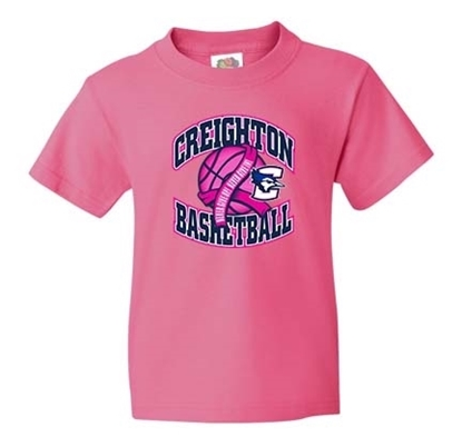 Picture of Creighton Basketball Pink Out Youth Short Sleeve Shirt (CU-188)