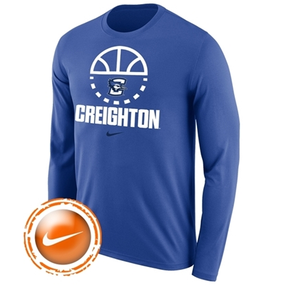 Picture of Creighton Nike® Basketball Legend Long Sleeve Shirt