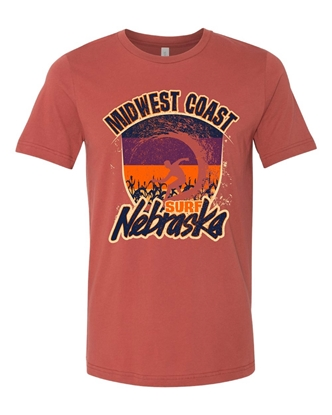 Picture of Midwest Coast Surf Nebraska T-shirt