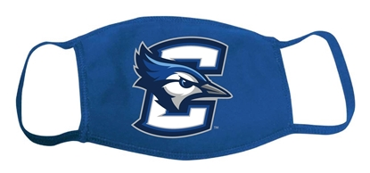 Picture of **FULL COLOR** Creighton Cotton 2-Ply Face Mask (CU-219)