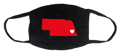 Picture of Nebraksa Heart 2-ply Cotton Mask