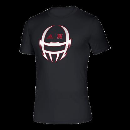 Picture of Nebraska Adidas® Locker Chromed Helmet Creator Short Sleeve Shirt