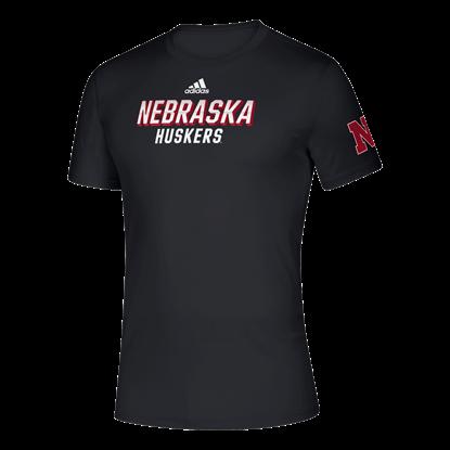 Picture of Nebraska Adidas® Locker Chromed Up Creator Short Sleeve Shirt