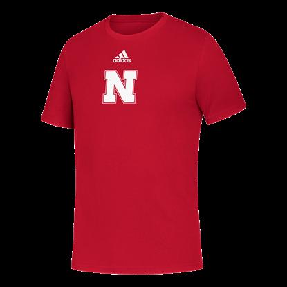 Picture of Nebraska Adidas® Locker Side by Side Amplifier Short Sleeve Shirt