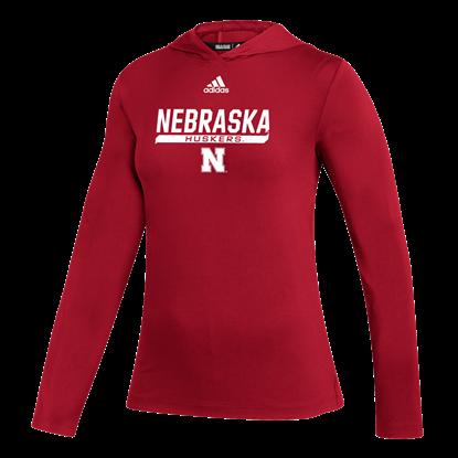 Picture of Nebraska Adidas® Ladies Under the Lights Long Sleeve Training Top