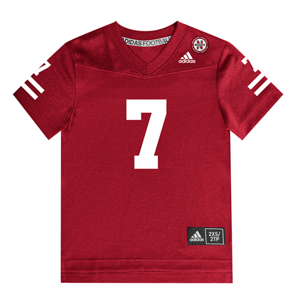 Picture of Nebraska Adidas® Toddler #7 Replica Jersey Red