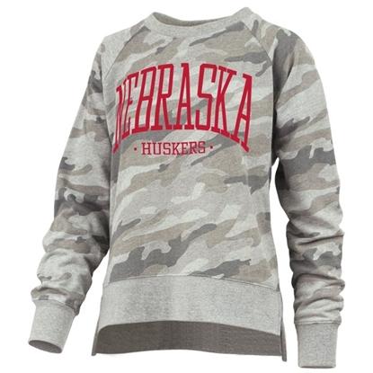 Picture of Nebraska Pressbox®  Ladies Oakland Camo Sweatshirt