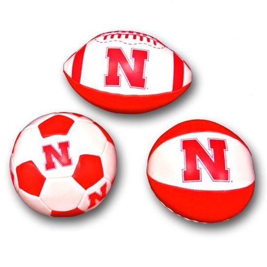 Picture of Nebraska Soft Touch Mini Plush Balls