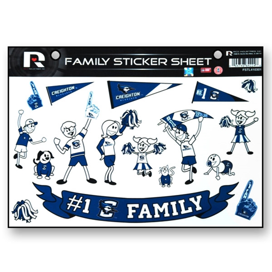 Picture of Creighton Family Sticker Sheet