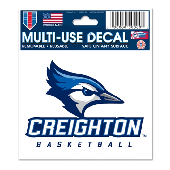 """Picture of Creighton BASKETBALL 3"""" x 4"""" Multi-Use Decal"""
