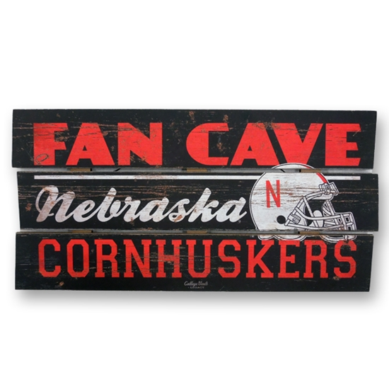 Picture of NU Fan Cave Wood Sign
