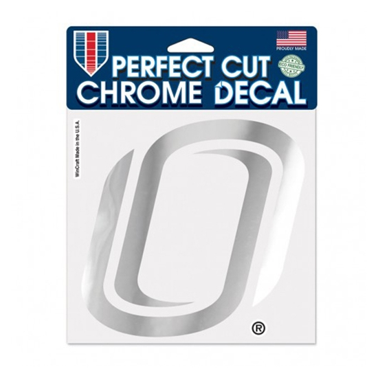 """Picture of UNO 6"""" x 6"""" Perfect Cut Chrome Decal"""