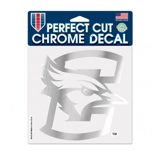 """Picture of Creighton 6"""" x 6"""" Perfect Cut Chrome Decal"""