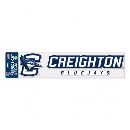 """Picture of Creighton 4"""" x 17"""" Perfect Cut Decal"""