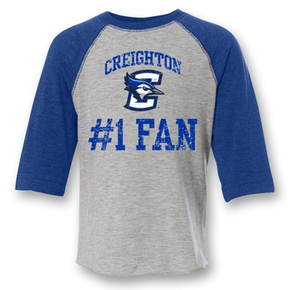 Picture of Creighton #1 Fan Raglan Tee | Toddler