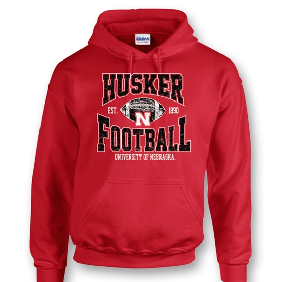 Picture of Nebraska Football Hooded Sweatshirt (NU-095)