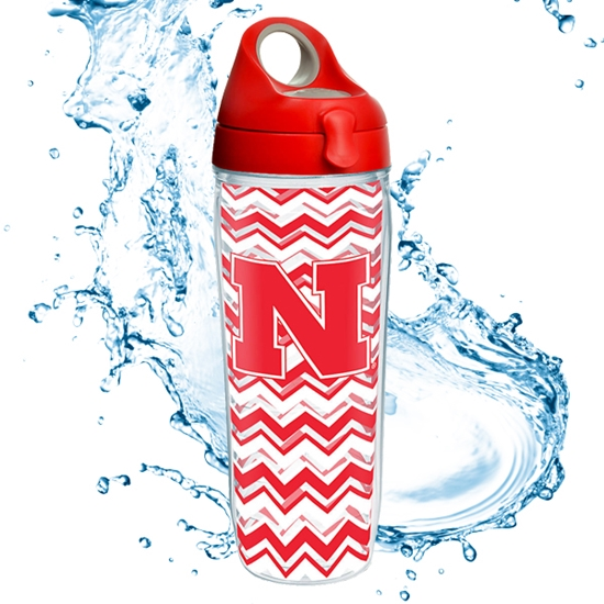 Picture of Nebraska 24oz Chevron Wrap Water Bottle
