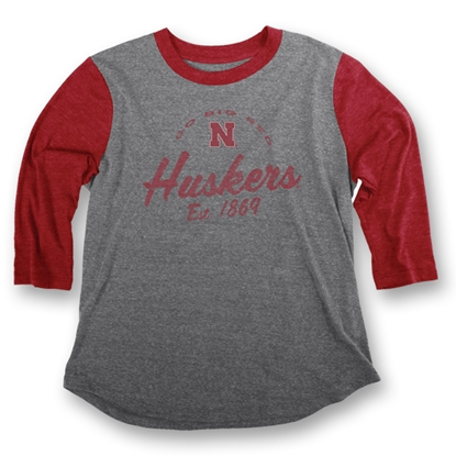 Picture of Nebraska Huskers Triblend L/S Tee | Ladies