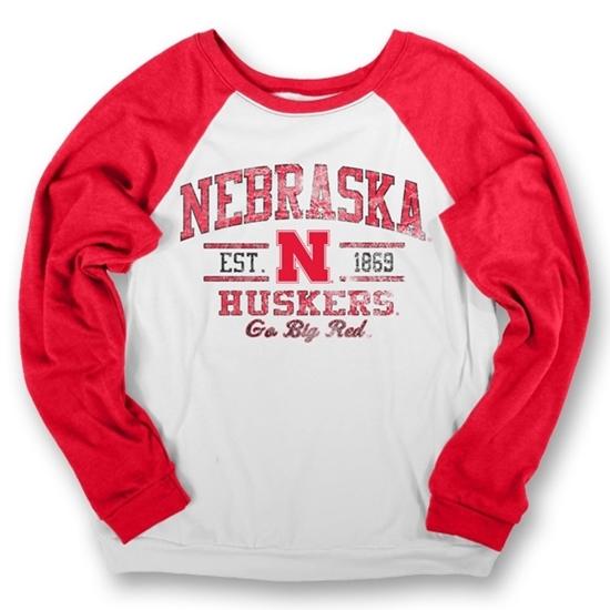 Picture of Nebraska Cozy Fleece Crew | Ladies