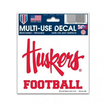 Picture of Nebraska FOOTBALL Decal