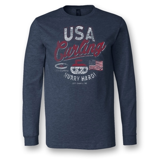 Picture of USA Curling Hurry Hard L/S T-Shirt
