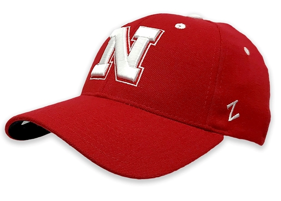 Picture of Nebraska Z N Hat ZF Red | Stretch Fit