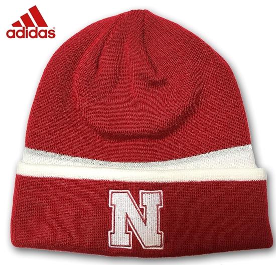 Picture of Nebraska Adidas® Coach Cuffed  | Beanie