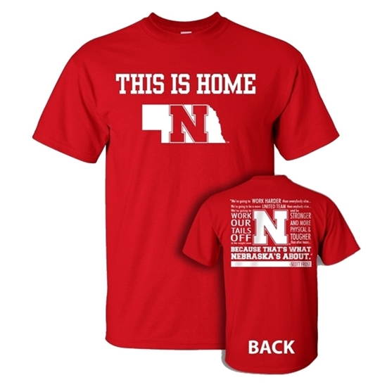 Picture of NU Scott Frost This is Home Short Sleeve Shirt