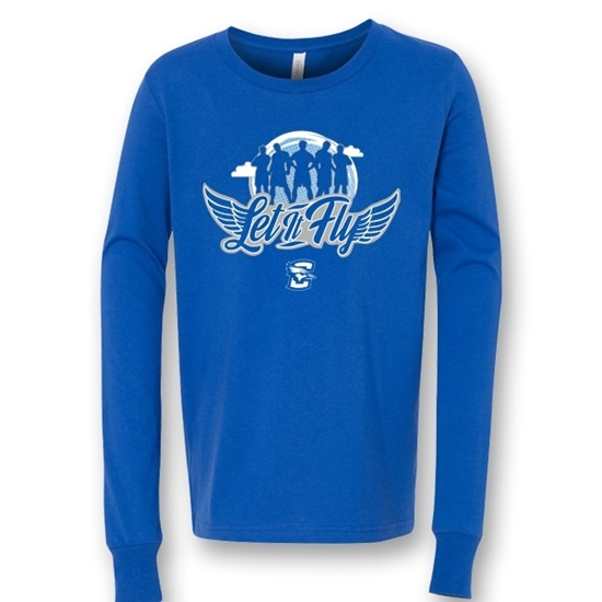 Picture of Creighton Youth Soft Cotton Long Sleeve Shirt (CU-169)