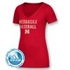 Picture of Nebraska Adidas® Ladies Baseball Stack Block Triblend Short Sleeve Shirt