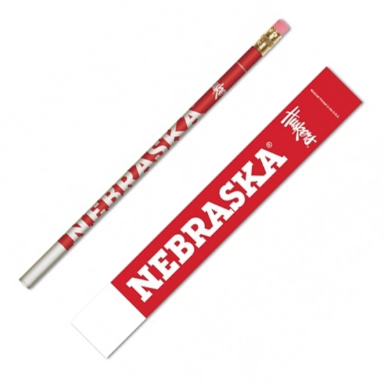 Picture of Nebraska 6-Pack Pencils