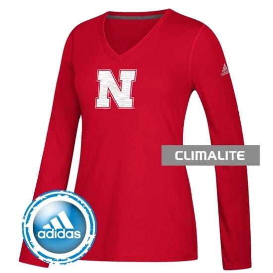 Picture of Nebraska Adidas® Ladies Sideline Sequel Ultimate Long Sleeve Shirt