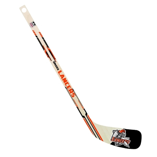 """Picture of Omaha Lancers 24"""" Mini Wooden Hockey Stick"""