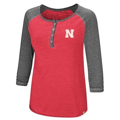 Picture of Nebraska Colosseum® Ladies Henley