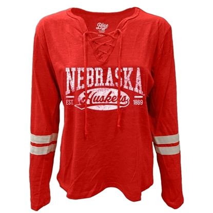 Picture of Nebraska Blue 84® Ladies Lydia Lace Up Crew