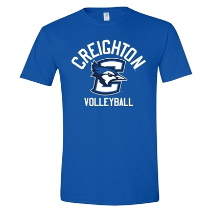 Picture of Creighton Volleyball Soft Cotton Short Sleeve Shirt (CU-184)