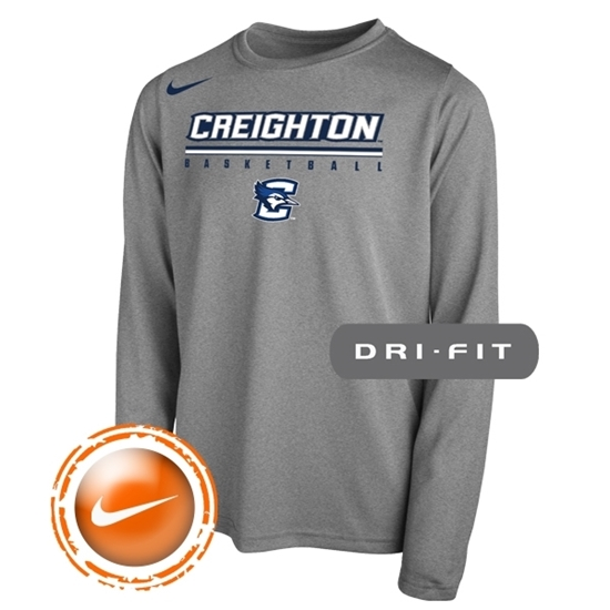 Picture of Creighton Nike® Youth Basketball Legend Long Sleeve Shirt