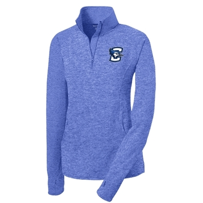 Picture of Creighton Ladies Sport Stretch ½ Zip Pullover