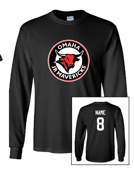 Picture of Jr Mavs Bantam Travel A CIRCLE MAV logo - Cotton Long Sleeves **with personalization option**