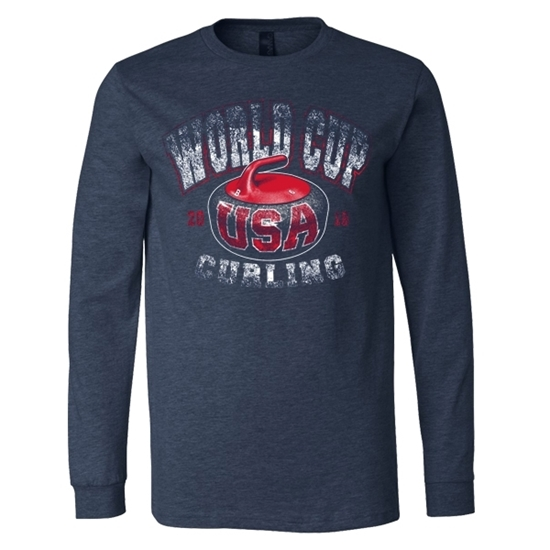 Picture of Curling World Cup Hammer Long Sleeve Jersey Knit Shirt