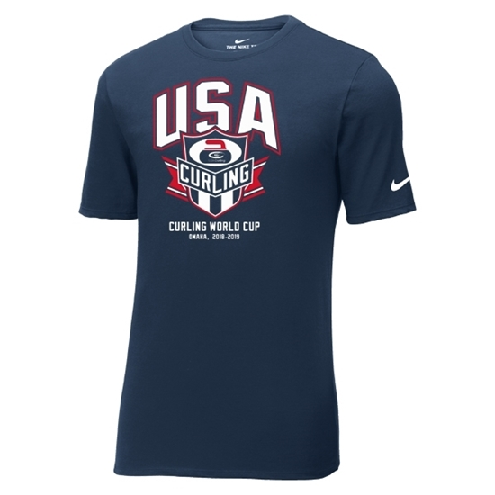 Picture of Curling World Cup Nike® Banner Core Cotton Short Sleeve Shirt