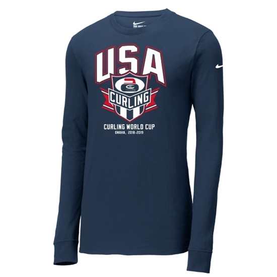 Picture of Curling World Cup Nike® Banner Core Cotton Long Sleeve Shirt