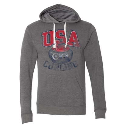 Picture of Curling World Cup Bonspiel Tri-Blend Hooded Sweatshirt
