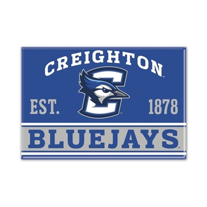 Picture of Creighton Wincraft® 2.5'' x 3.5'' Metal Magnet
