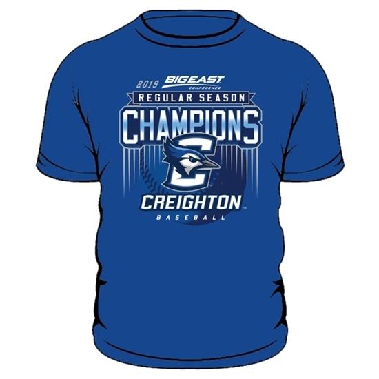 Picture of Creighton 2019 Big East Baseball Regular Season Champions Short Sleeve Shirt